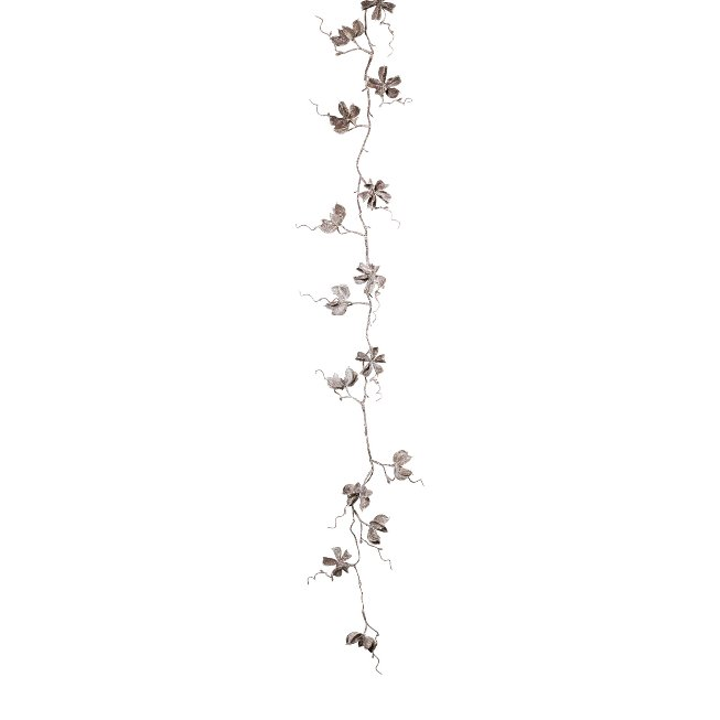 Cotton Garland Iced ,130 cm, Frost