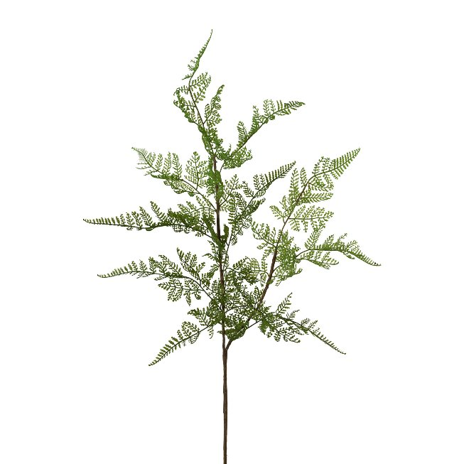 Leather fern branch, 81 cm, set of 2 pcs
