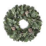 Fir-Eucalypthusmix-wreath,with cones,60 cm, frost