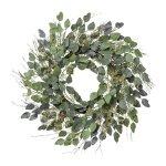 Euclaypthus wreath, 60cm, grey/green