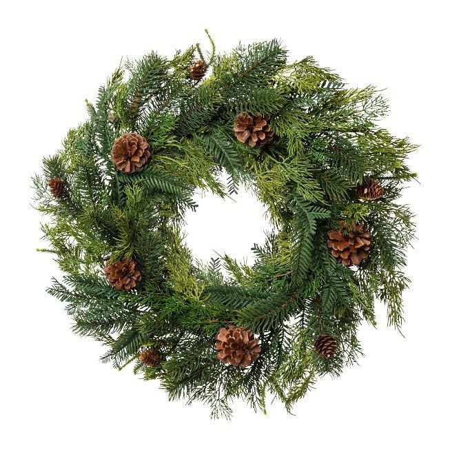 #Fir Mix Wreath With Spigot,60