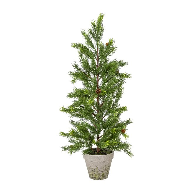 Fir tree with cones in pot,73 cm,green