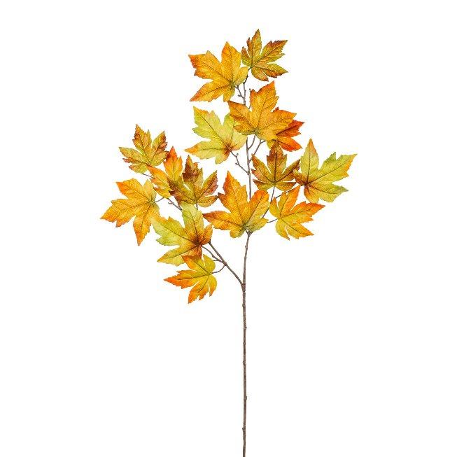 Maple leaf branch, 90 cm, autumn coloured