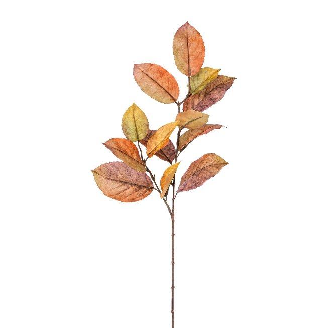 Mulberry leaf branch, 68 cm, brown