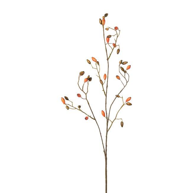 Rose hip branch, 92 cm, orange