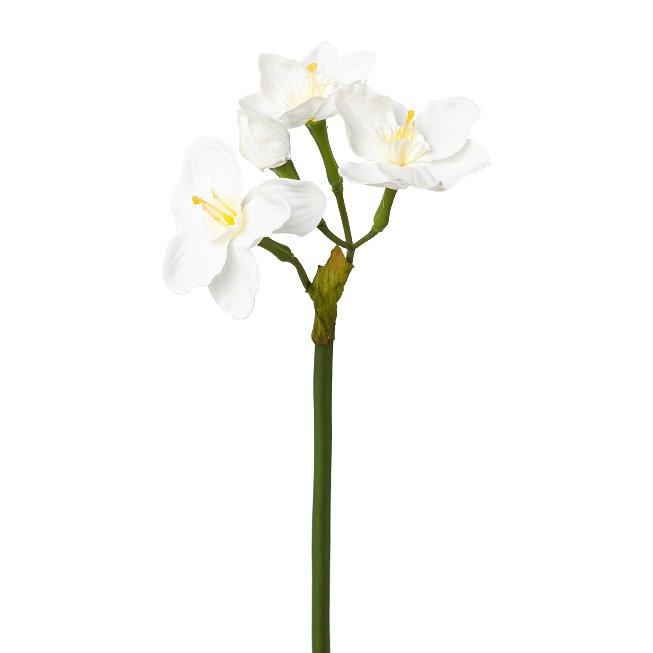 Daffodil branch, 40 cm, white, set of 2 pcs