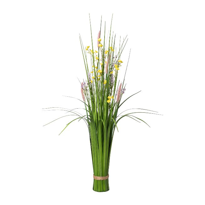 Standing Grass Bush With,Flowers, 89 cm, Colorful