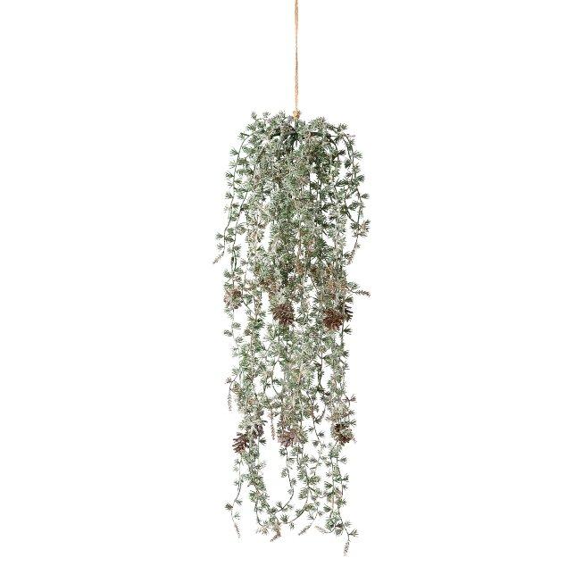 Cedar hanger, frosted, 65,cm, frost