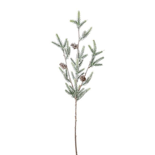 74 cm mini spruce branch with cones, snow