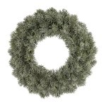 Fir wreath frosted,38 cm,frost