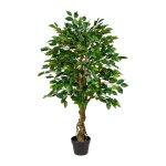 Ficus Benjamini, ca. 125 cm,Green, Plastic, In Pot 17x14