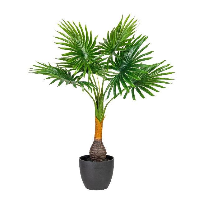 Fan Palm, ca. 70 cm Green,Plastic, In Pot 14x12 cm