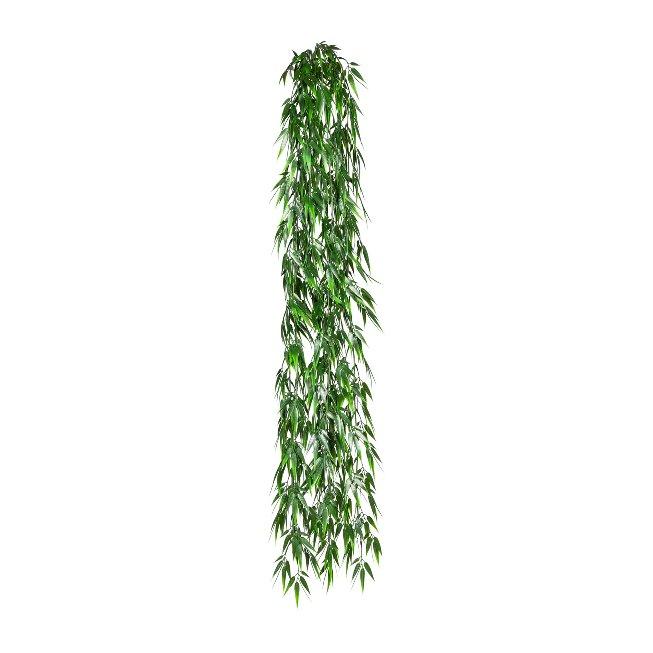 Bamboo Hanger x6, ca. 120 cm,Plastic, Green