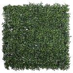 Boxwood mat, ca 50x50x7cm,plastic, green, UV-resistant,