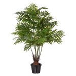 Areca Palm x6, ca. 110 cm,Realtouch, Green, In Pot