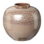 Terracotta vase, 25x20cm, cream