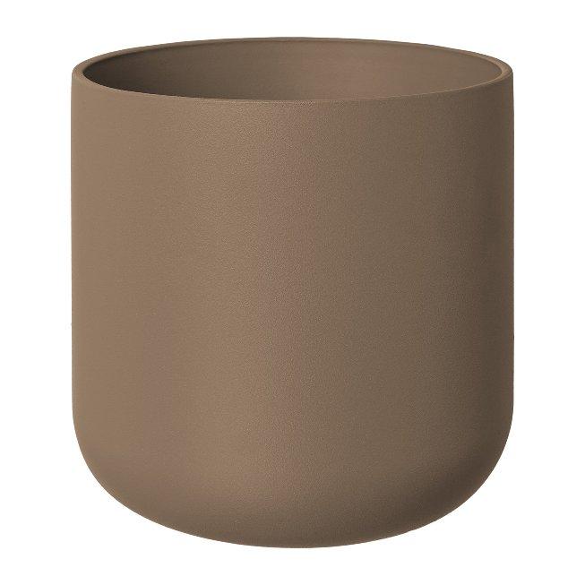 Terracotta Cachepot Matt,Consilio, 13,5x13,5x13 cm,, set of 2 pcs