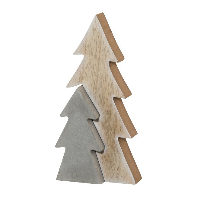 #Holz Cement Kombi Tannenbaum