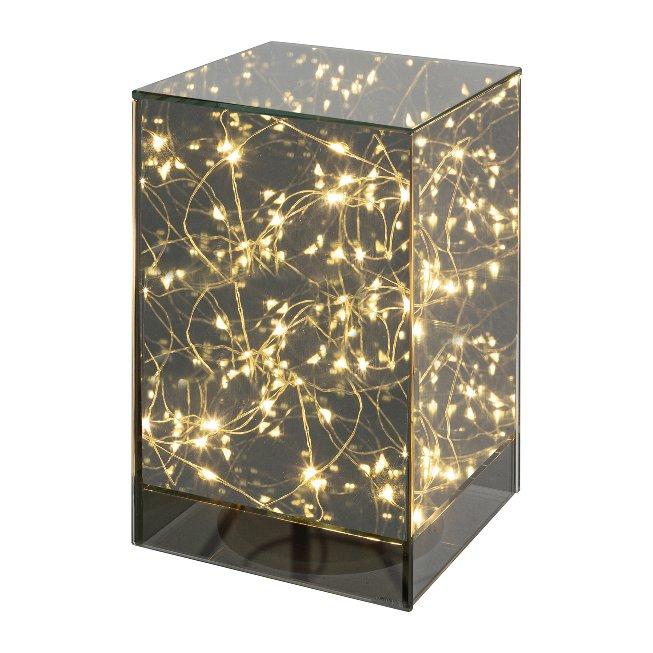Glas Tischlampe S?ule mit 15 LED LIGHTS