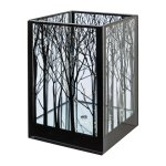 Glass lantern square,CUBUS TREE, 12x12x18cm,