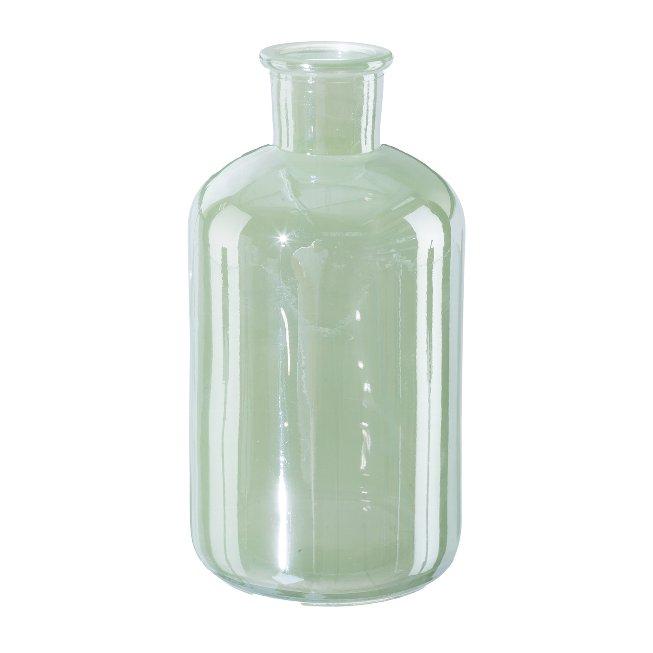 Flat glass vase, 6,5x12,5cm, light green