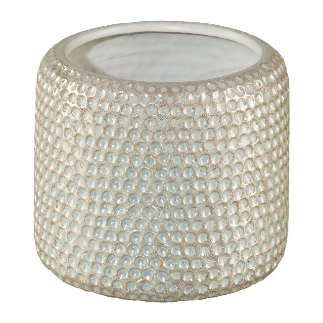 Ceramic Cachepot Cocoon,15x15x14 cm, Cream