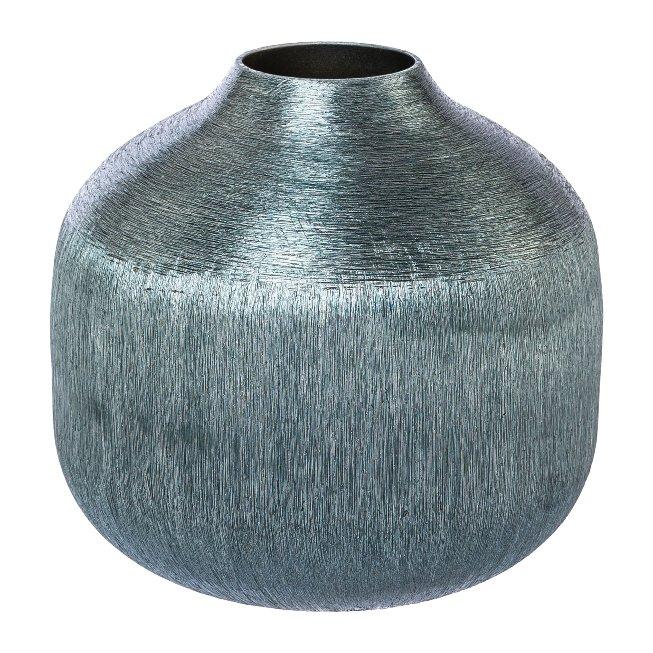 Aluminium vase LEONIS,13x13x12cm,ice blue