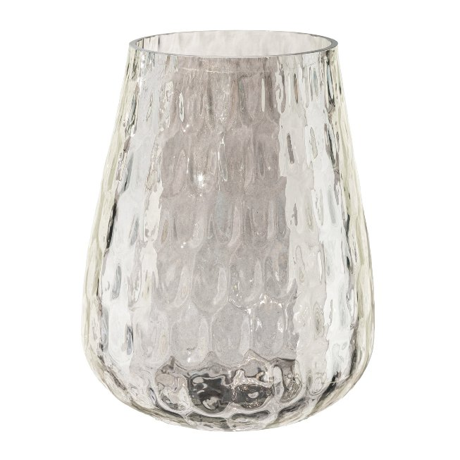 Glass Tea Light, 13,5x10x10,cm, Brown
