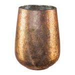 Glass lantern cylinder bulbous, 25x15cm, pink
