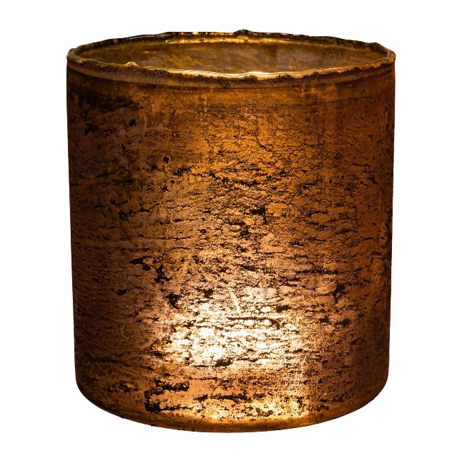 Glass lantern cylinder ROCCA,15x15x15cm,pink