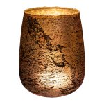 Glass lantern,bulbous ROCCA,12x12x14cm,pink