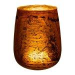 Glass lantern,bulbous ROCCA,17x17x21cm,orange