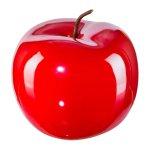 Ceramic Apple Pearl Efct,12x9,5 cm, Red