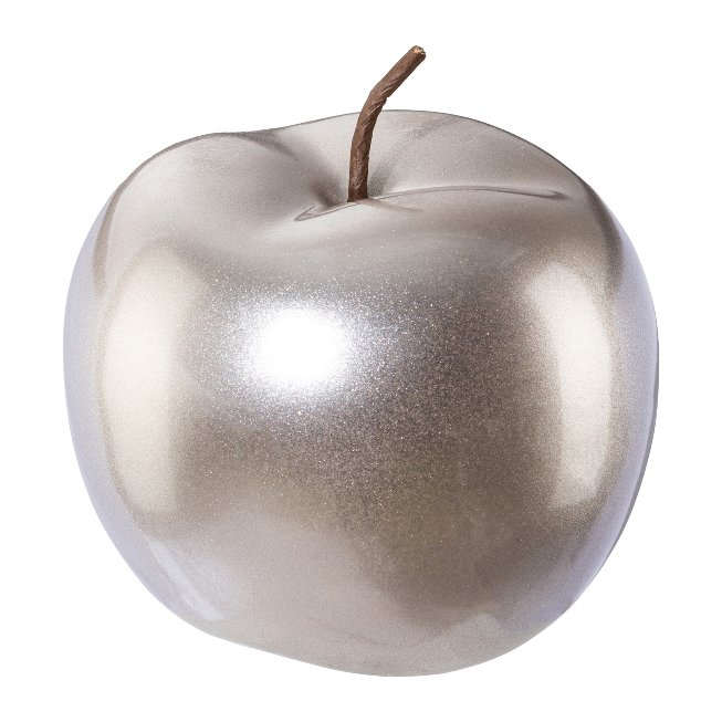 Ceramic Apple Festival,12x12x9,5 cm, Champagne,