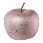 Ceramic apple ROUGH GLAMOUR,FINISH, 12x12x9,5cm, pink