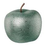 ceramic apple ROUGH GLAMOUR,FINISH, 12x12x9,5cm, light green