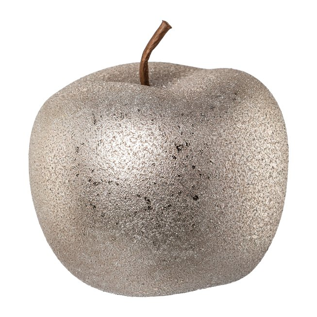 ceramic apple ROUGH GLAMOUR,FINISH, 12x12x9,5cm, grey
