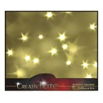 3D PVC film with star effect, 50x100cm, clear