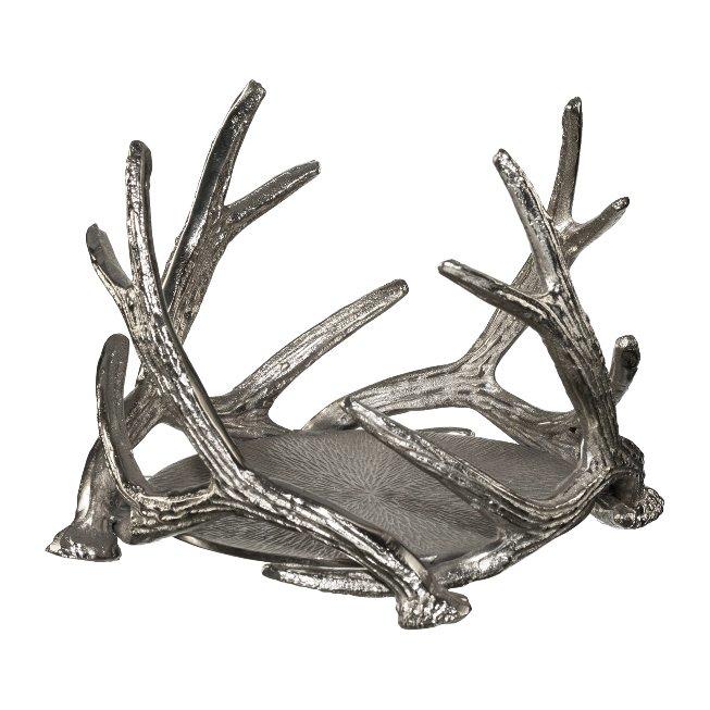 Aluminium Antler Tealight,Holder For Glass (933517),