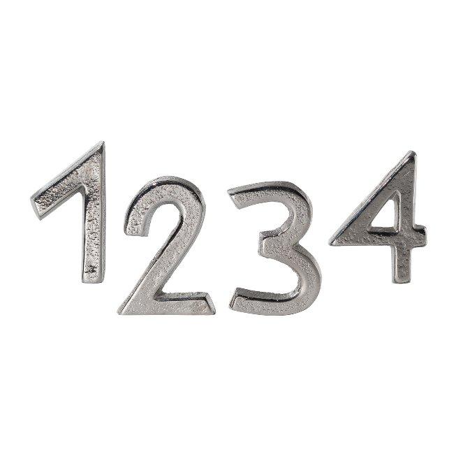 Aluminium Candle Pin 1,2,3,4,4 cm, Silver, 4/Box