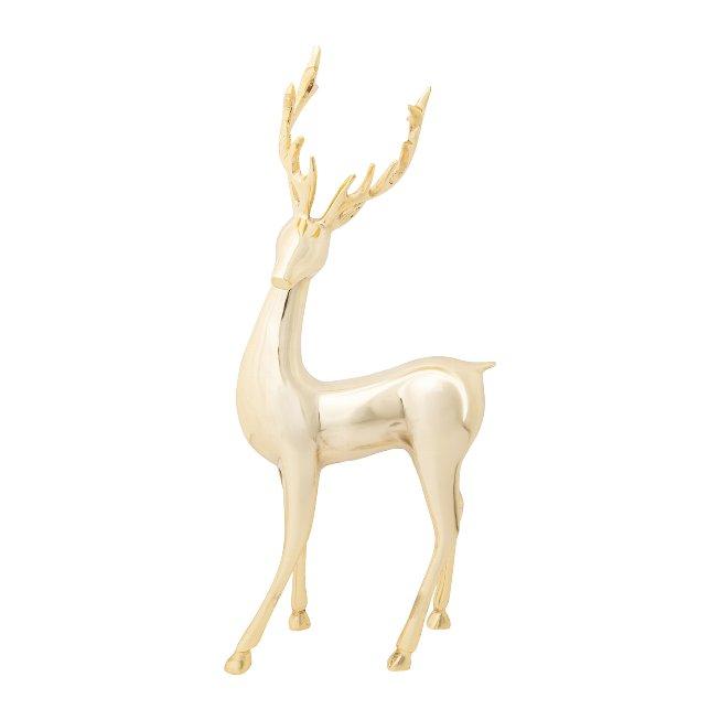 Aluminium Stag Standing Style,40x20x11 cm, Gold