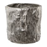 Aluminium planter, with bark decoration NATURALMENT,