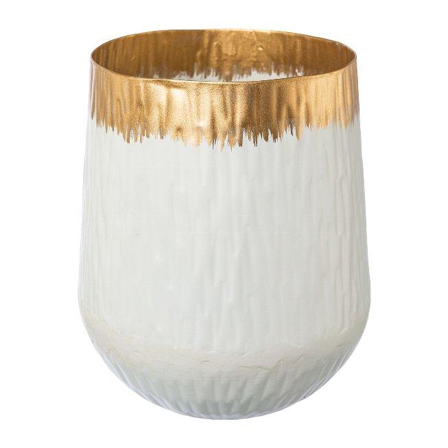 Metal bowl AGNES,12x2x15cm,white
