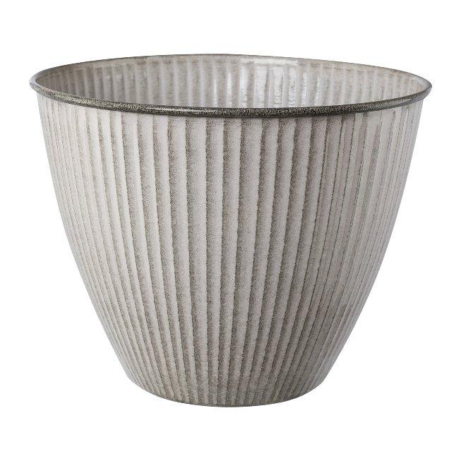 Metal Cachepot Karroo,33x33x26 cm, Cream