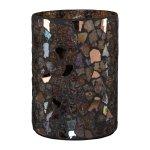 #Glas Windlicht Zylinder Mosaik