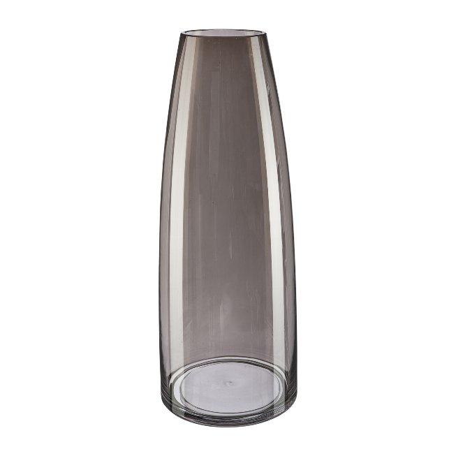 Glass Vase Torino, 15x40 cm,Grey
