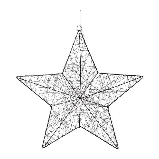 Draht Stern m. 40 LED