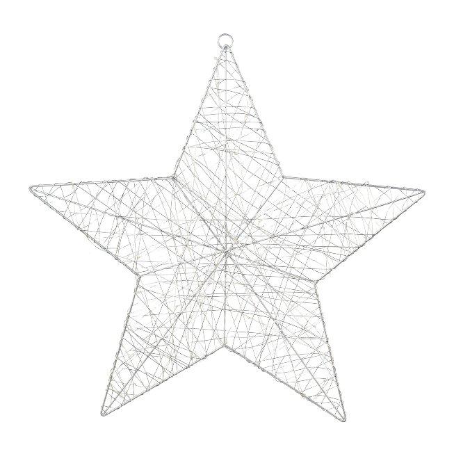 Draht Stern m. 50 LED
