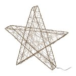 Wire Star 3D With 25 Led, 25,cm, Cream Pager, With 6H Timer