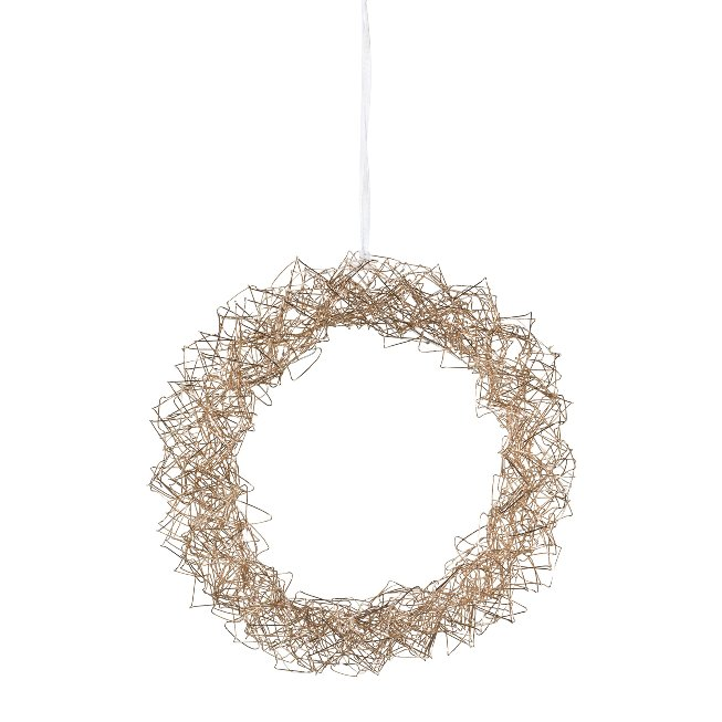 Wire Wreath Round Hanger With,35 Led Sizzled, 35 cm,